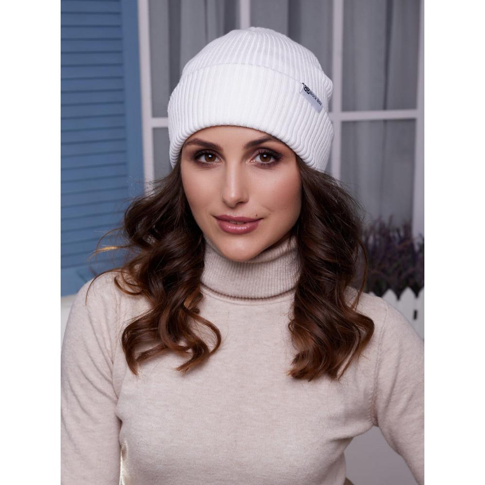 Женская белая шапка трансформер Алекса  фото 1