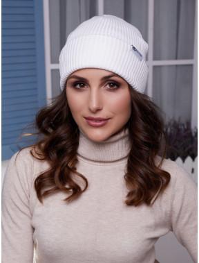 Женская белая шапка трансформер Алекса