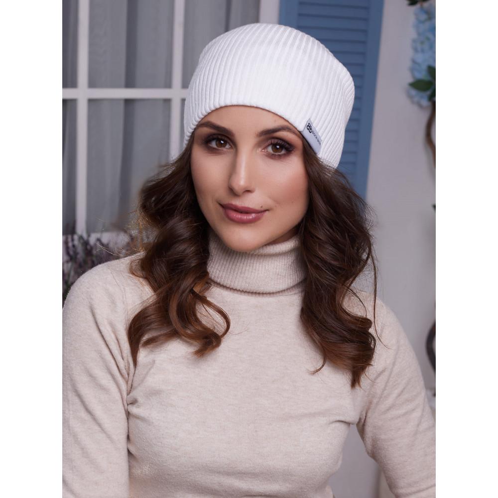 Женская белая шапка трансформер Алекса  фото 2