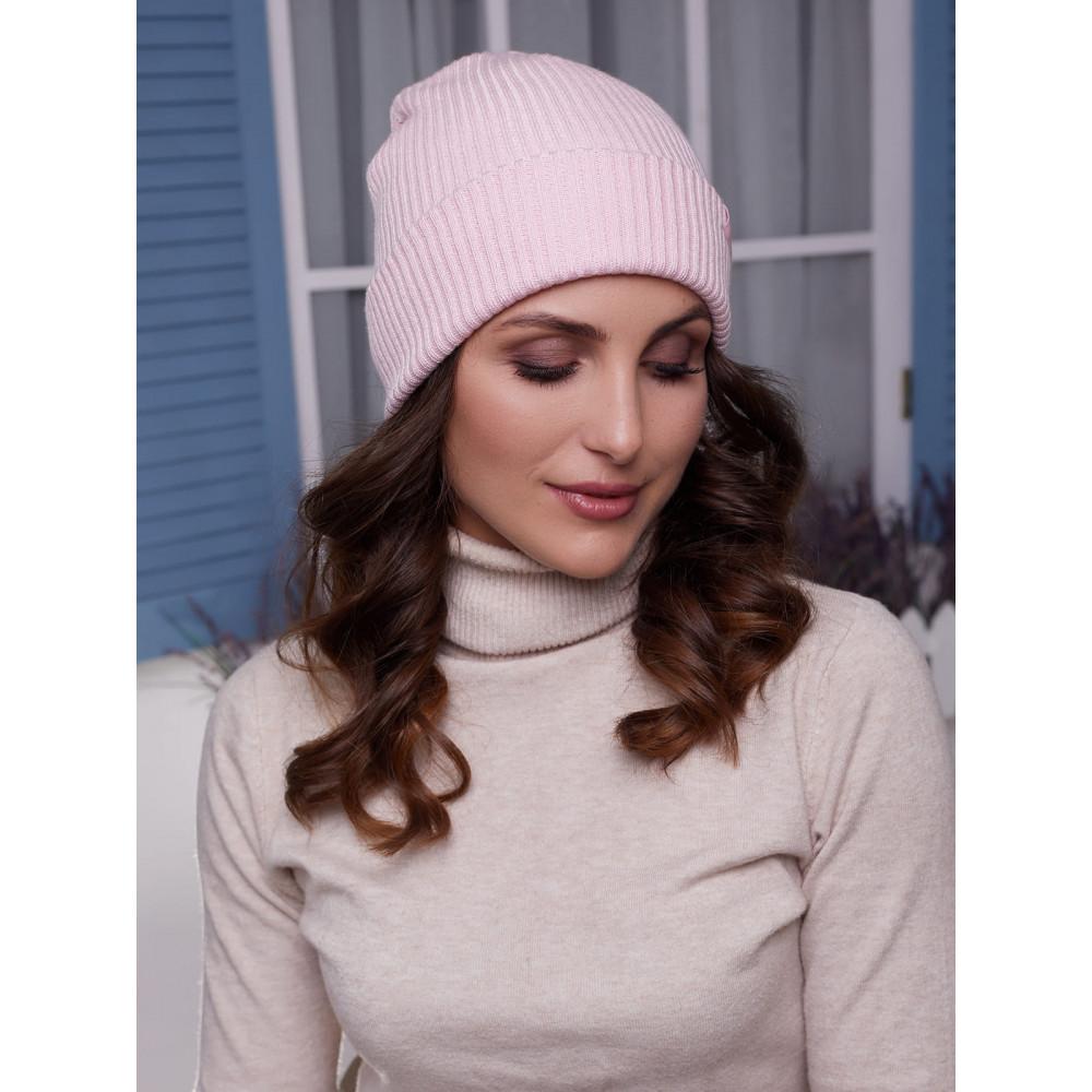 Женская розовая шапка Алекса фото 1