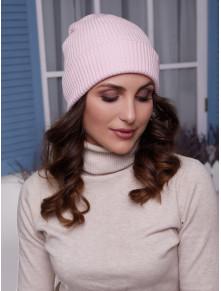 Женская розовая шапка Алекса