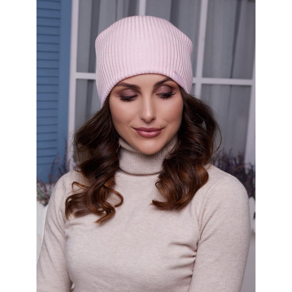 Женская розовая шапка Алекса фото 2