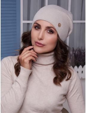 Женская бежевая шапка Бонни