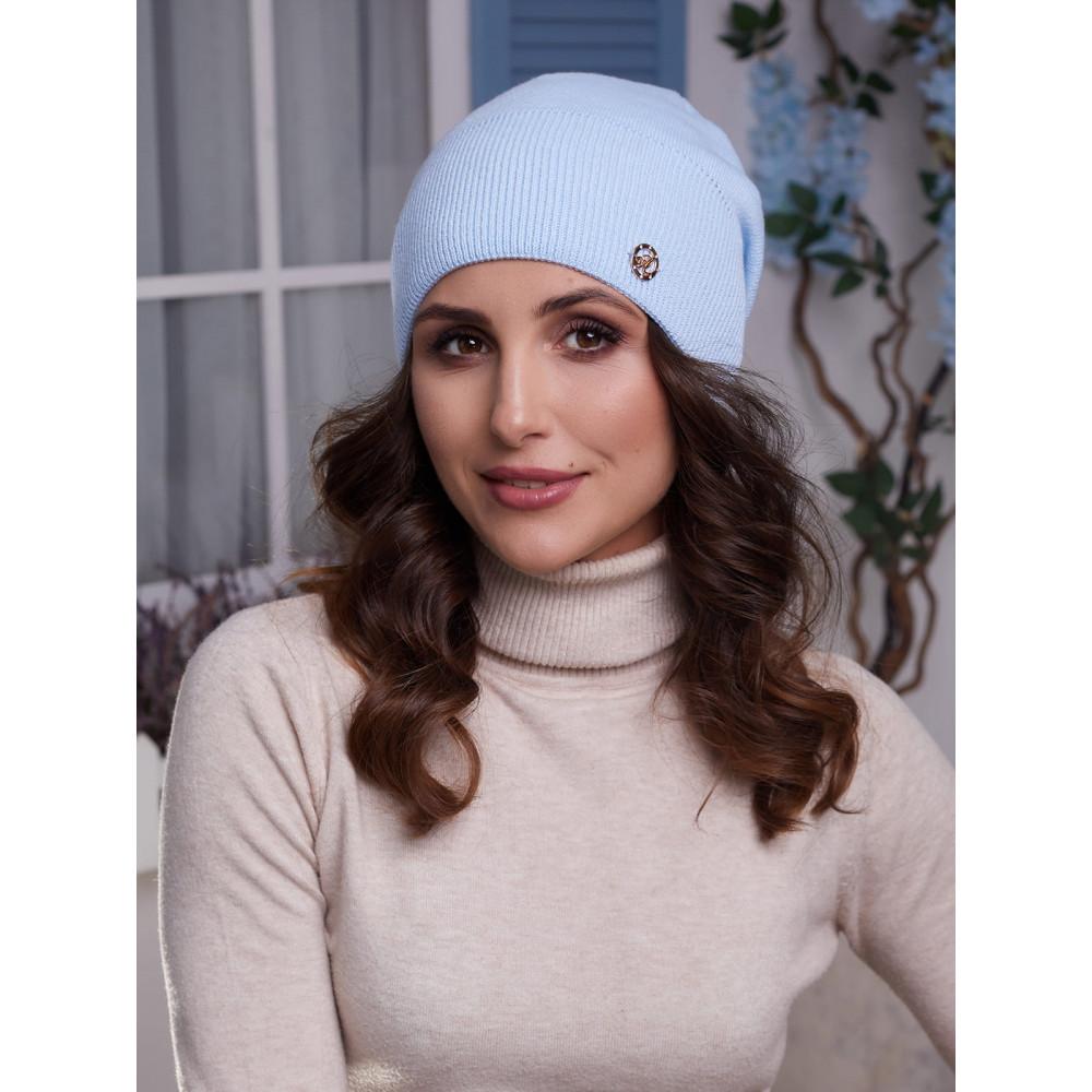 Голубая женская шапка Бонни  фото 1