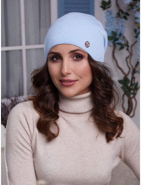 Голубая женская шапка Бонни