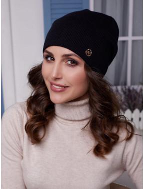 Женская шапка Бонни черного цвета