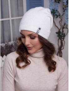 Белая женская шапка Ванесса