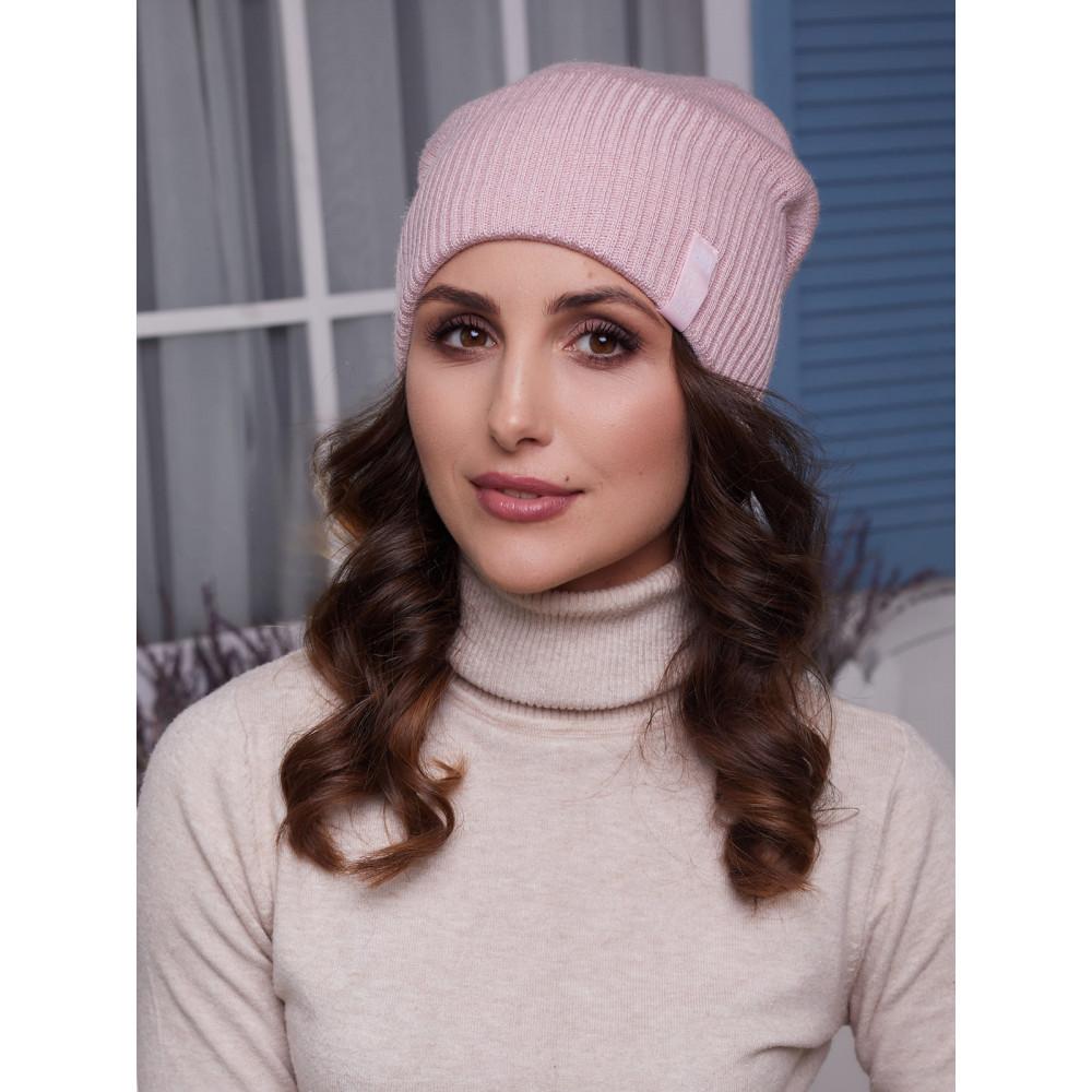 Женская вязаная шапка Ванесса  фото 1