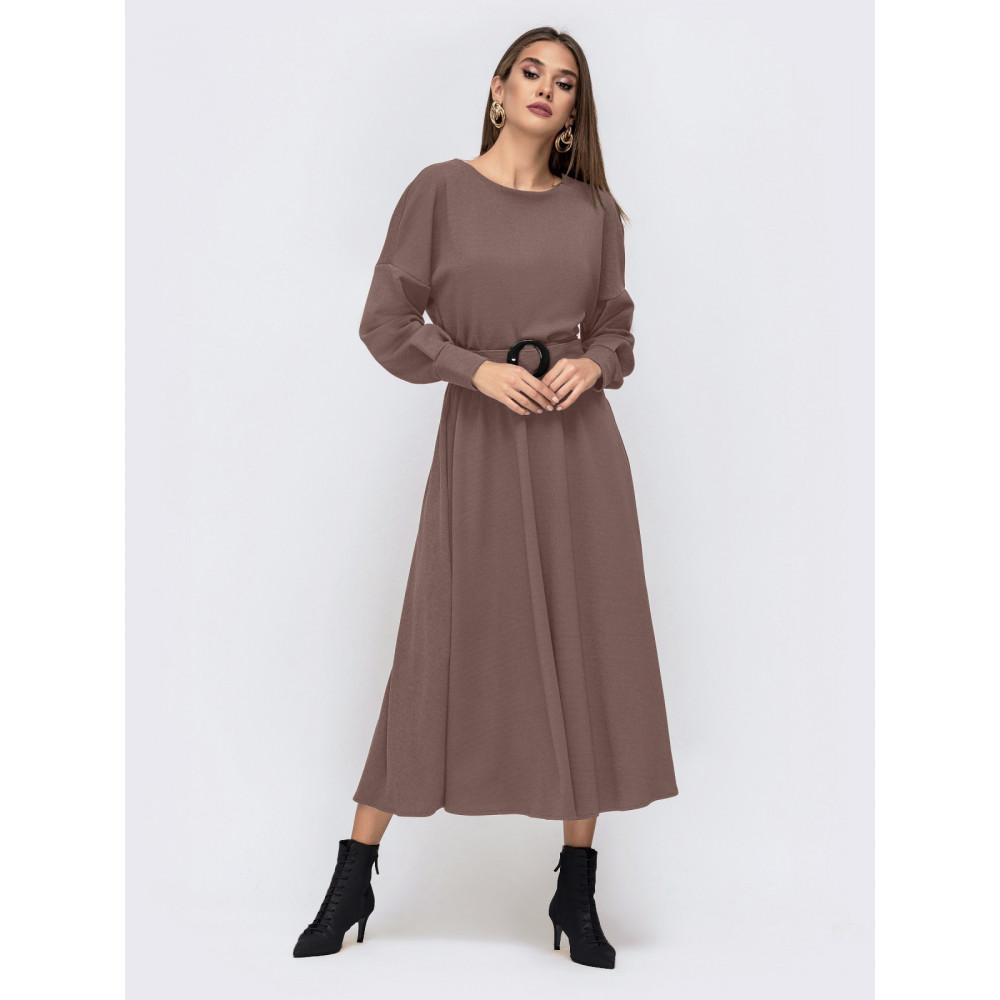 Кофейное платье-миди Эльза фото 1