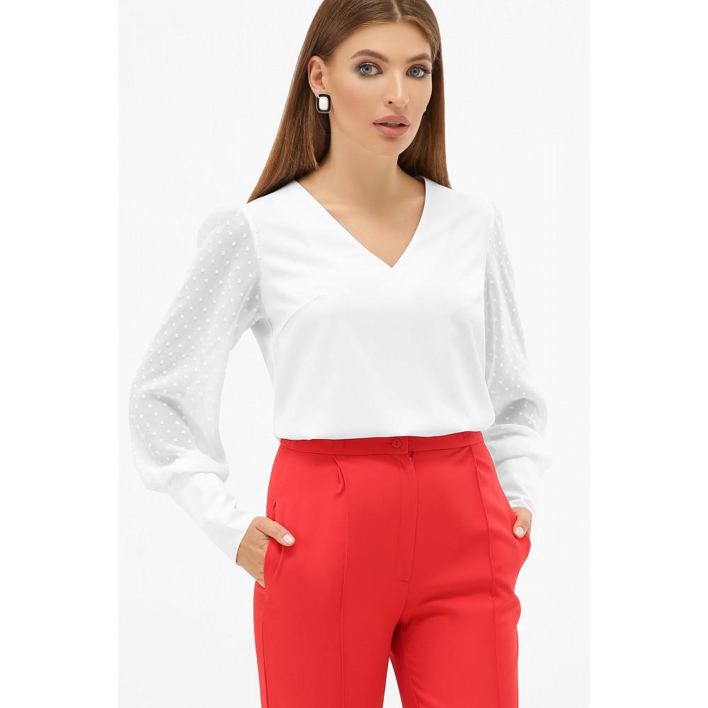 Белая блузка с V-вырезом Дарлин фото 1