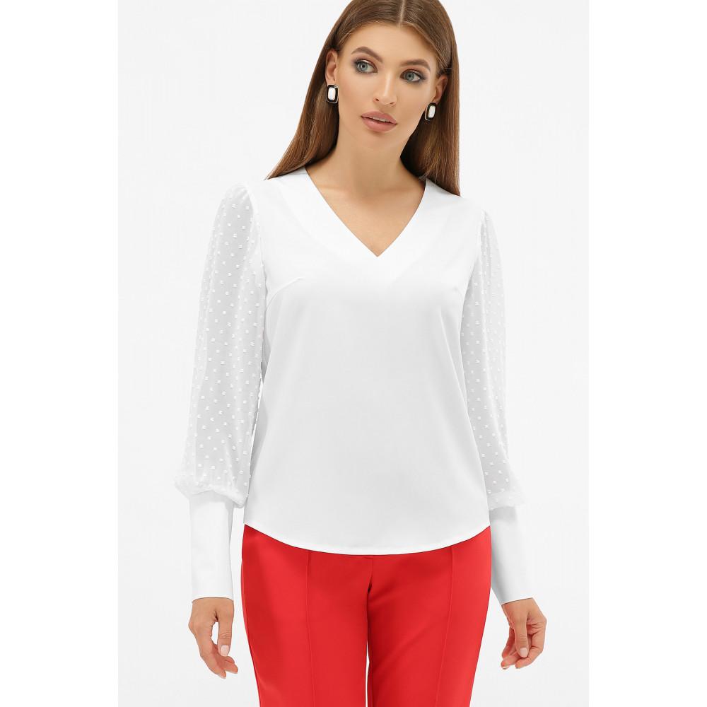 Белая блузка с V-вырезом Дарлин фото 2