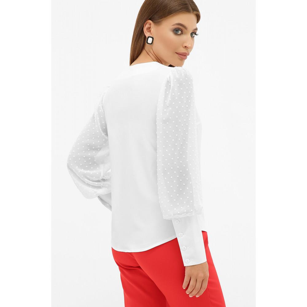 Белая блузка с V-вырезом Дарлин фото 3
