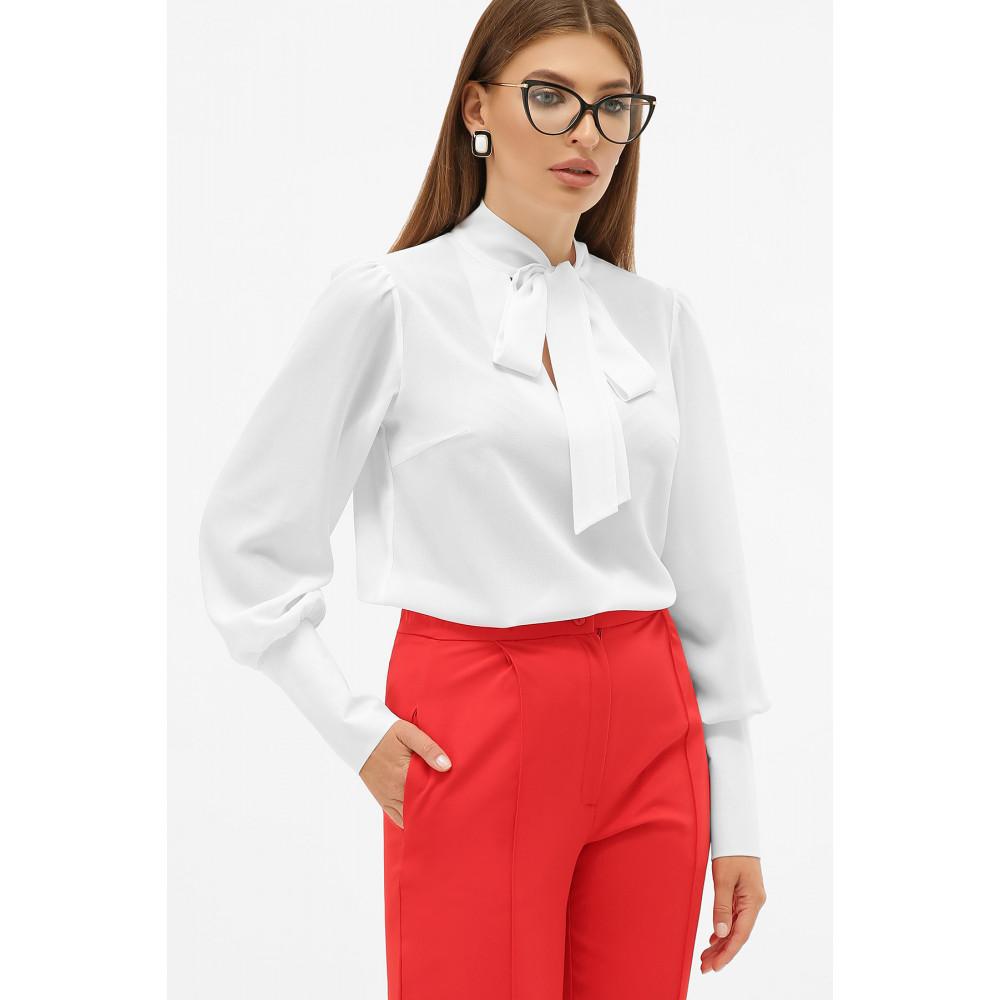 Белая блузка в стиле ретро с бантом Дарла фото 1