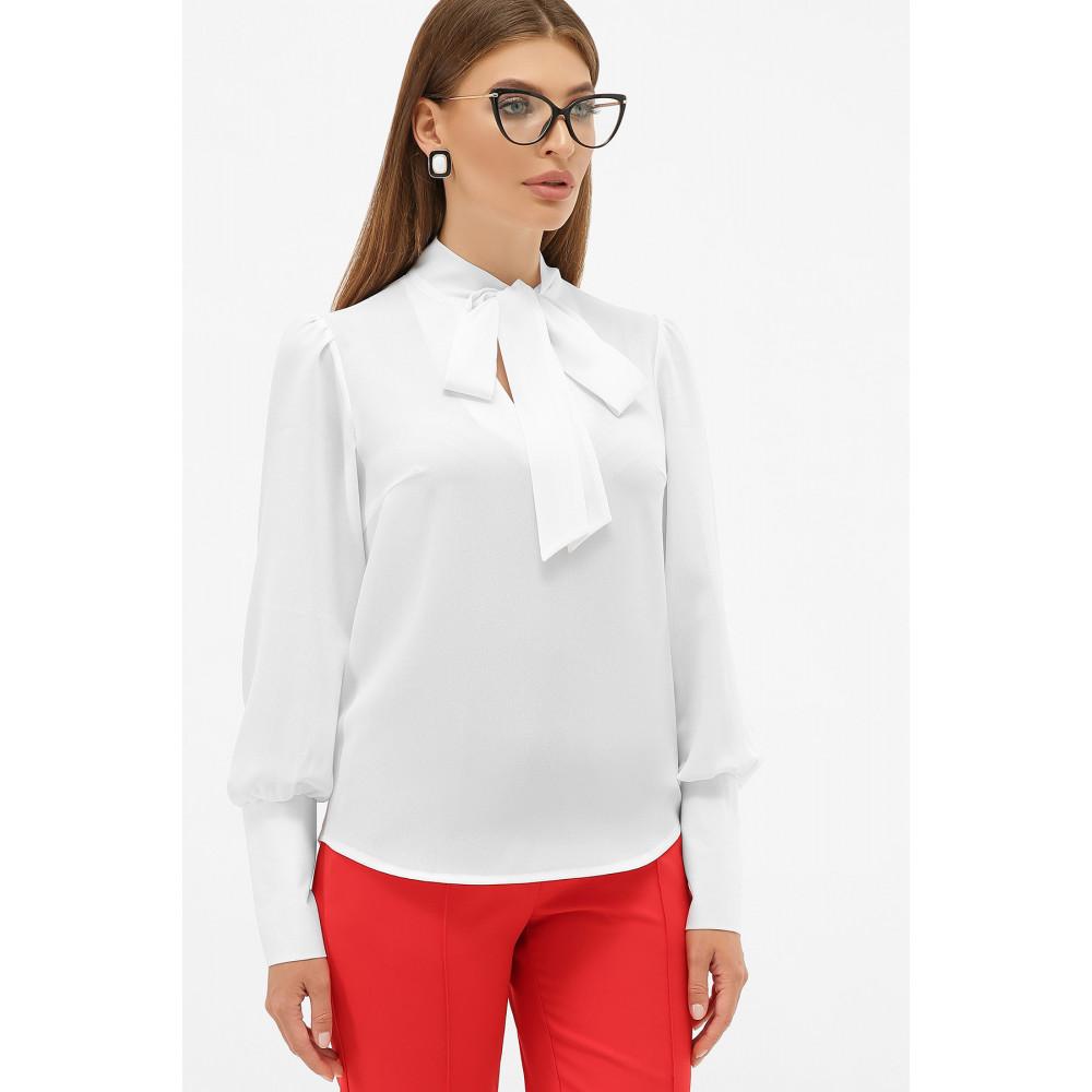 Белая блузка в стиле ретро с бантом Дарла фото 2