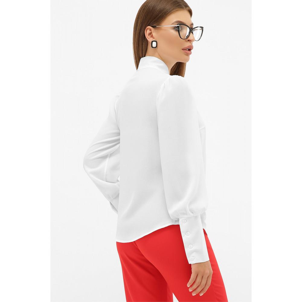 Белая блузка в стиле ретро с бантом Дарла фото 3