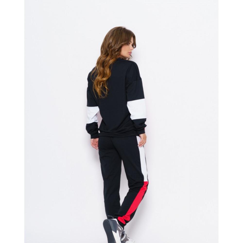 Комбинированный черный спортивный костюм Олли  фото 2