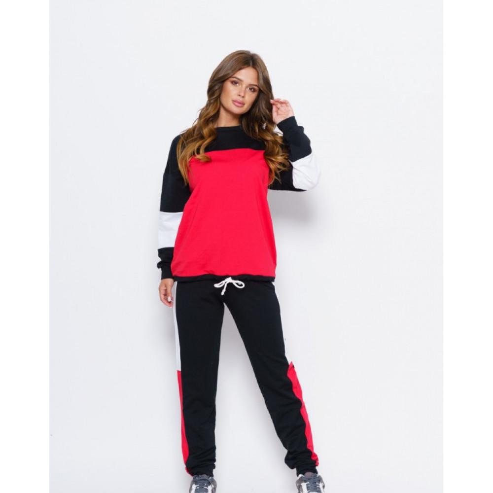 Комбинированный черный спортивный костюм Олли  фото 1