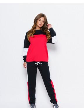 Комбинированный черный спортивный костюм Олли