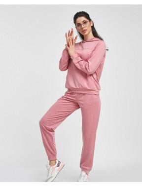Однотонный розовый спортивный костюм Tina