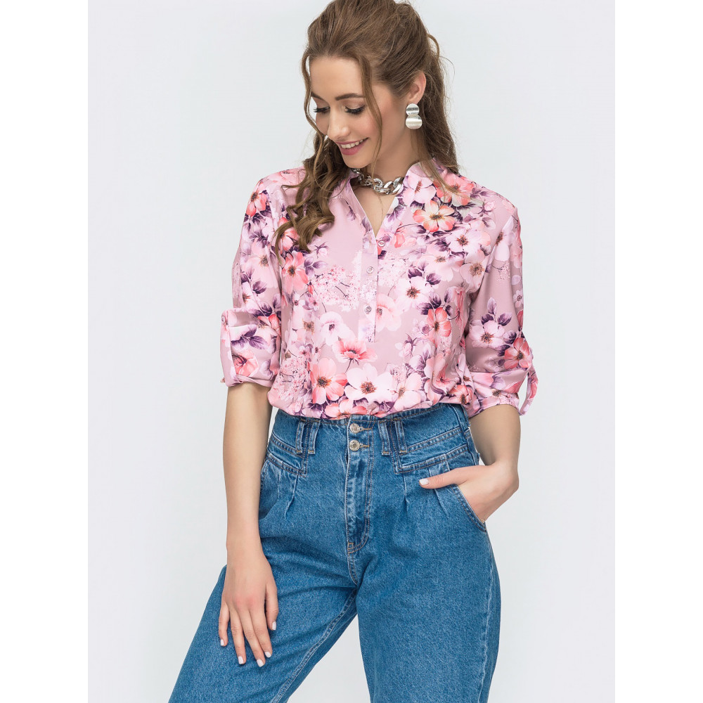 Блузка с нежным принтом Молли фото 1