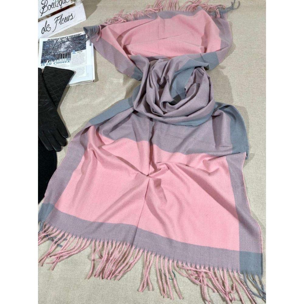Кашемировый розовый палантин  фото 1