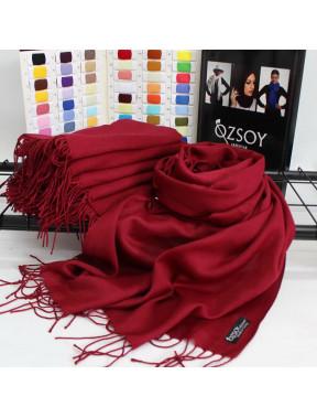 Модный бордовый шарф Луиза