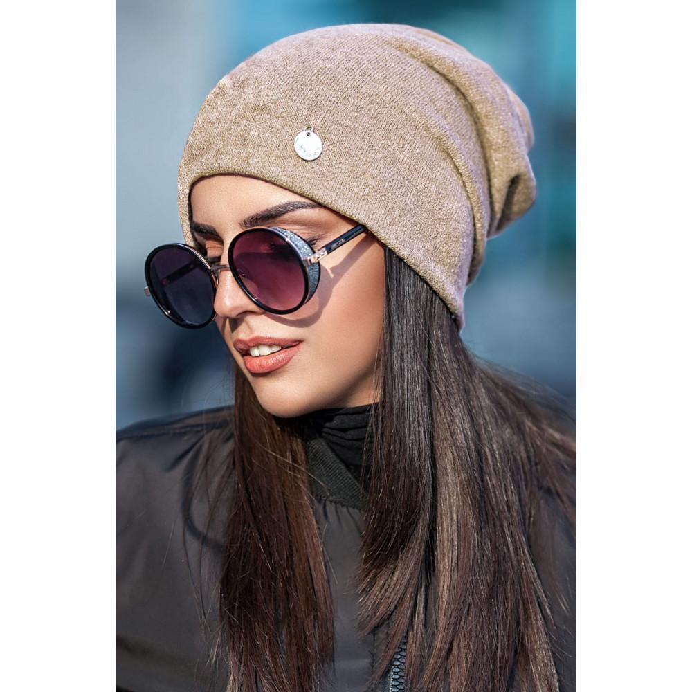 Бежевая шапка для длинноволосых Кристен фото 1