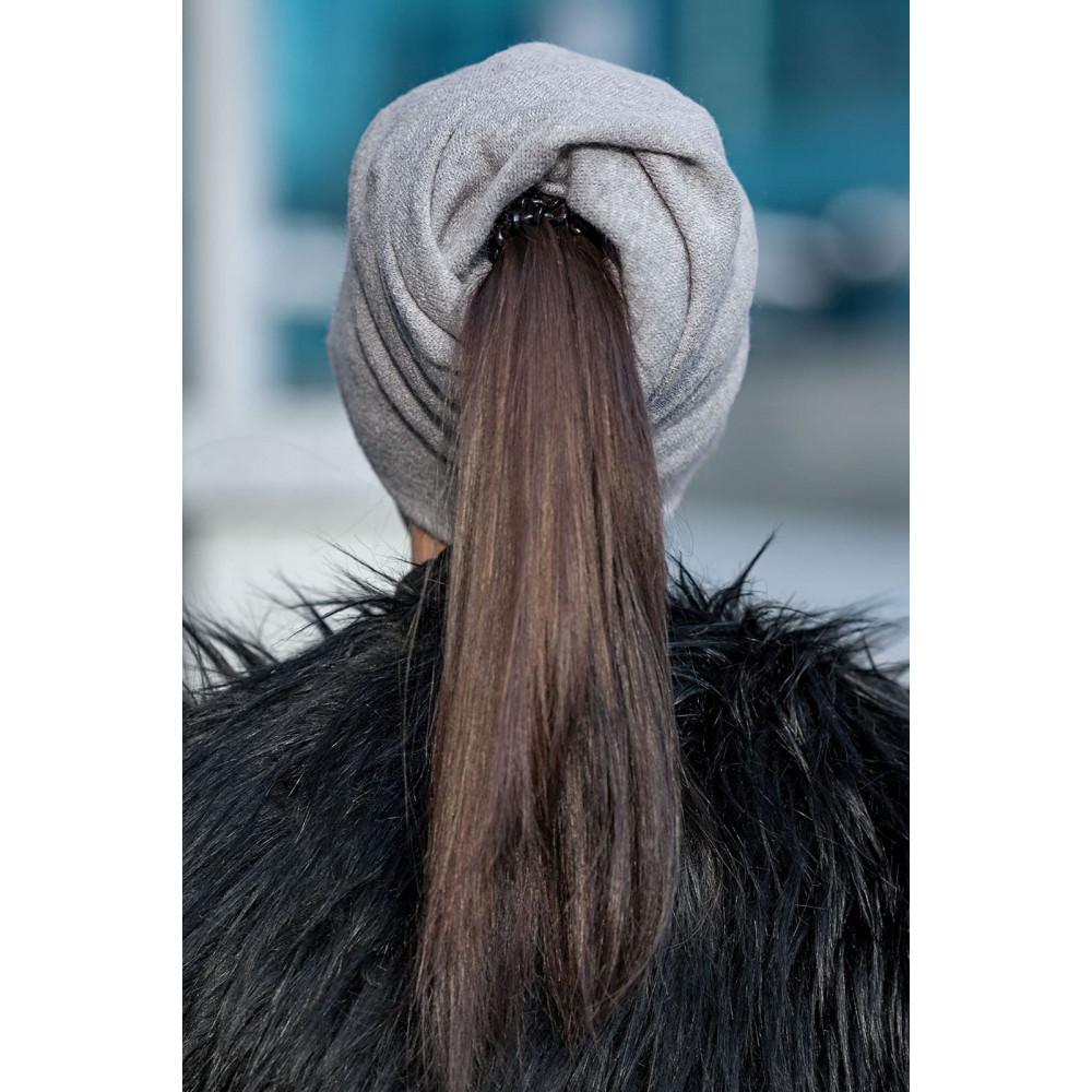 Бежевая шапка для длинноволосых Кристен фото 2