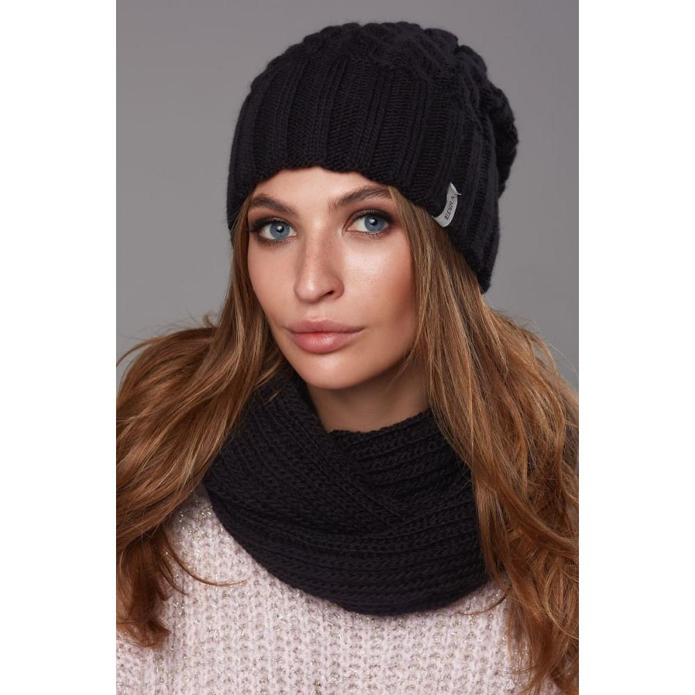 Женская вязаная шапка Рафаэлла фото 1