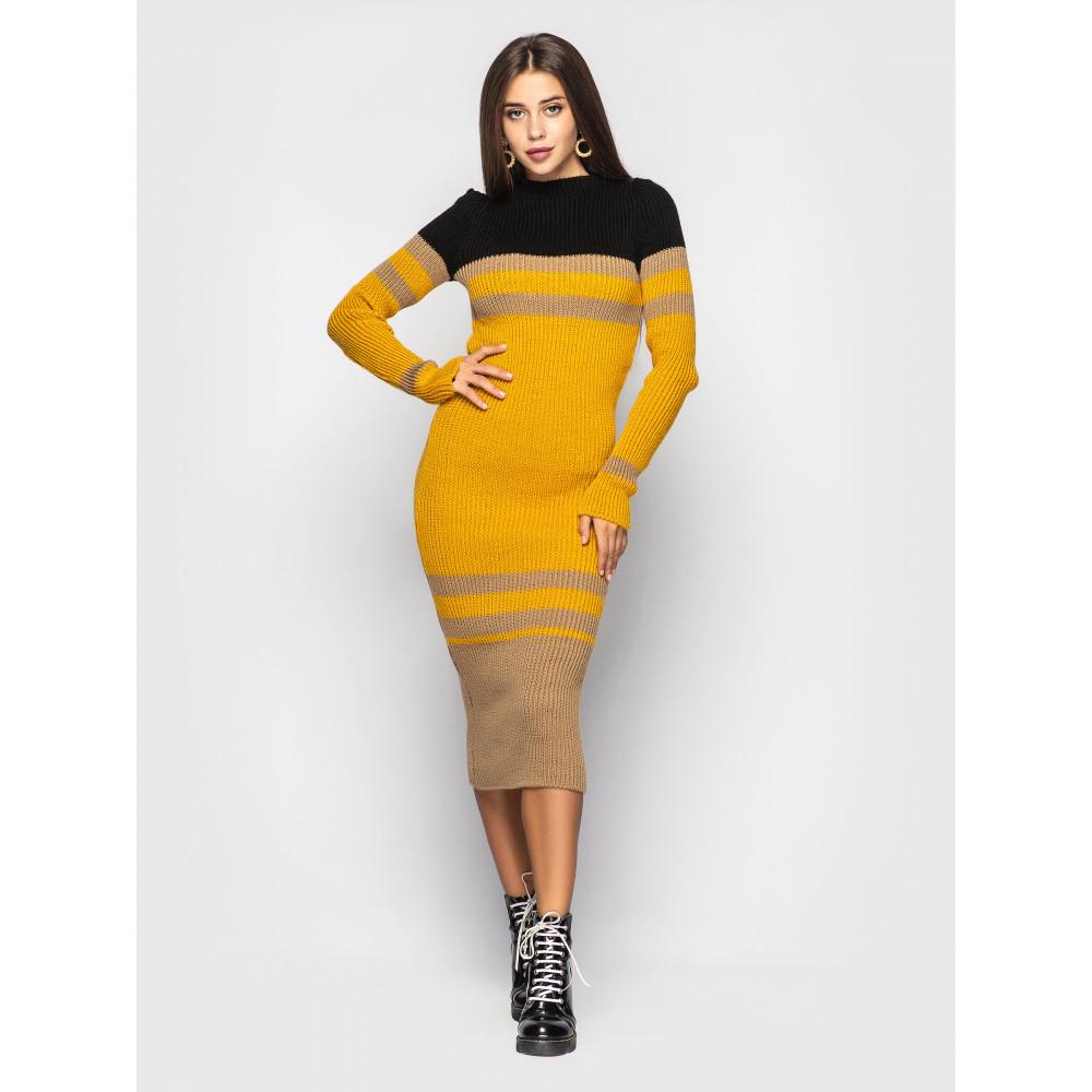 Контрастное вязаное платье Alyaska фото 1
