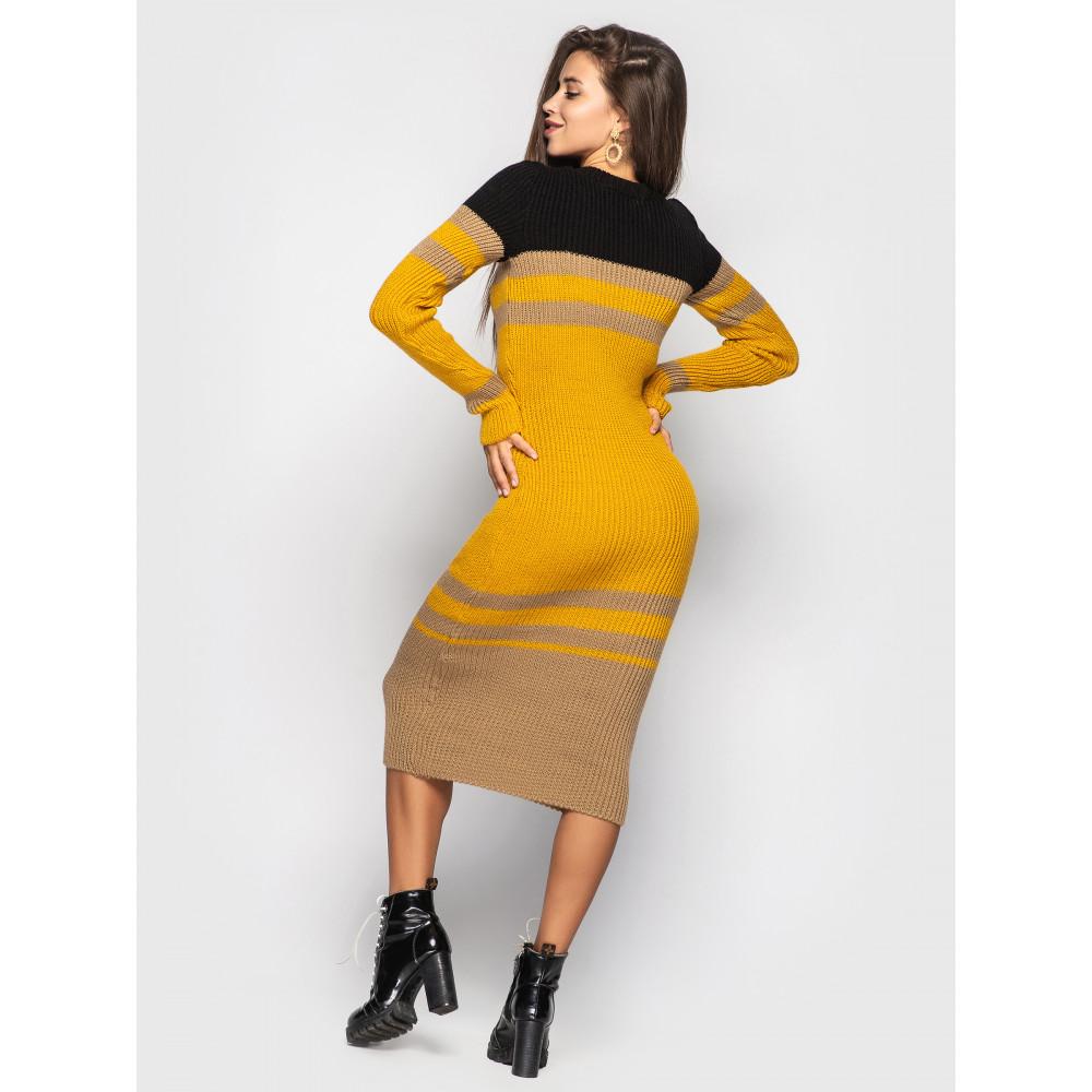 Контрастное вязаное платье Alyaska фото 2