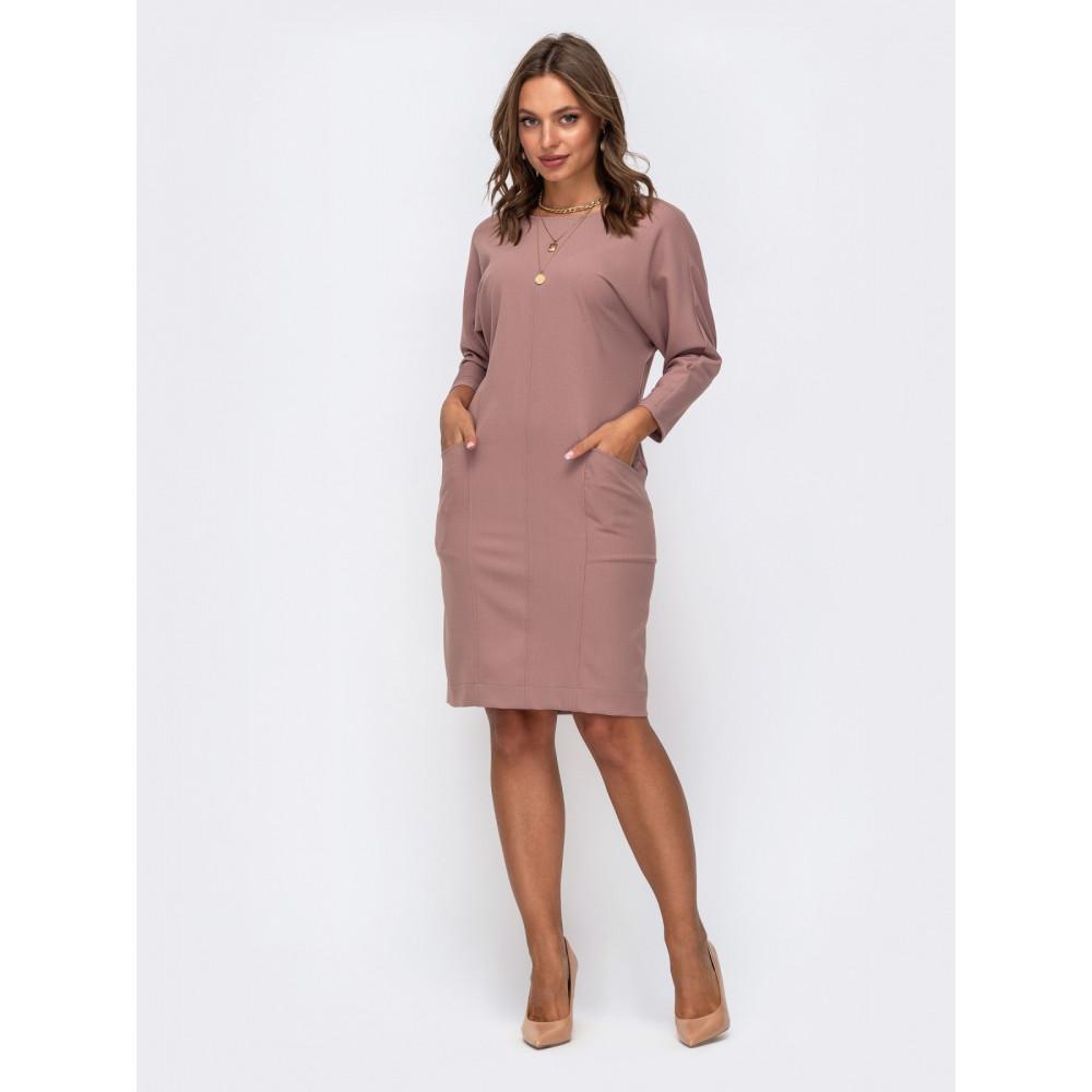 Лаконичное платье кофейного цвета Лайза фото 1