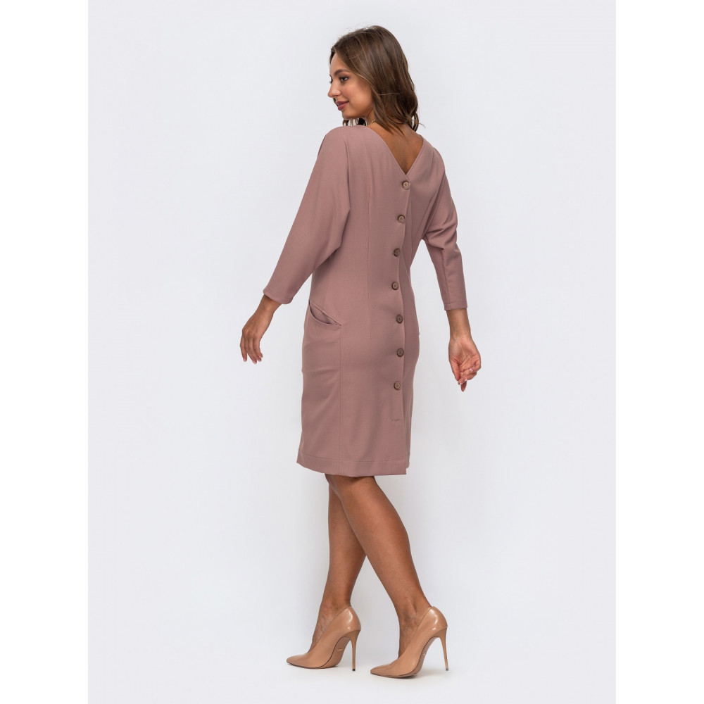 Лаконичное платье кофейного цвета Лайза фото 2