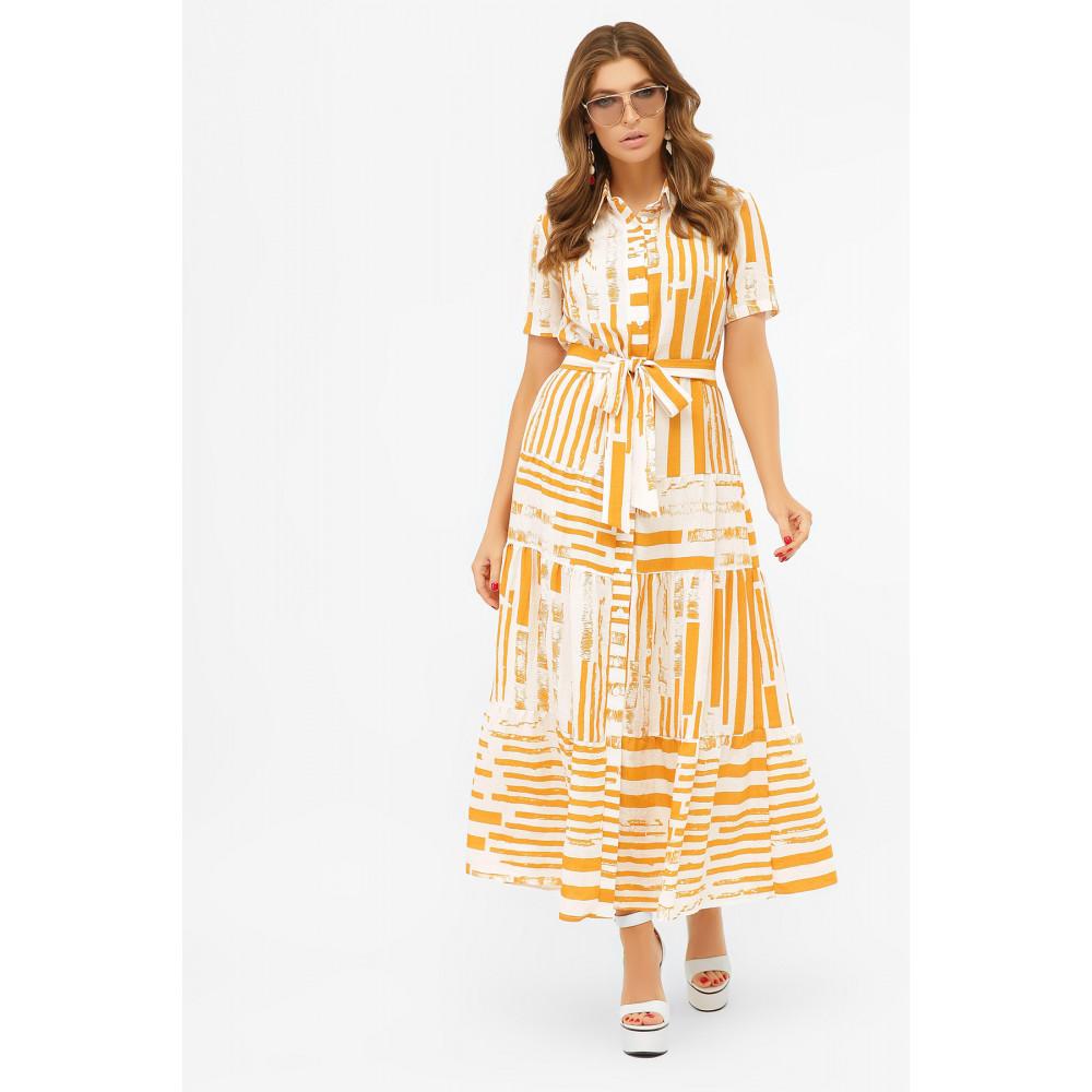 Актуальное платье-рубашка с принтом Дженни фото 1