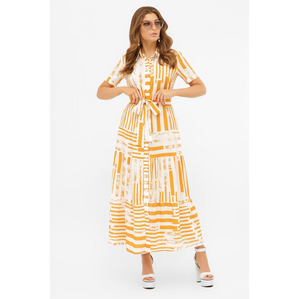 Актуальное платье-рубашка с принтом Дженни фото 2