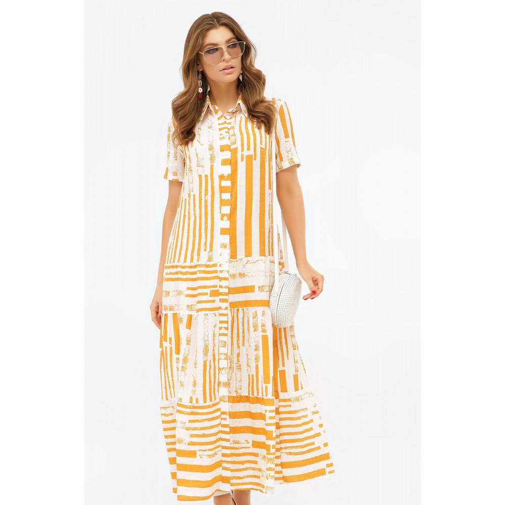 Актуальное платье-рубашка с принтом Дженни фото 3