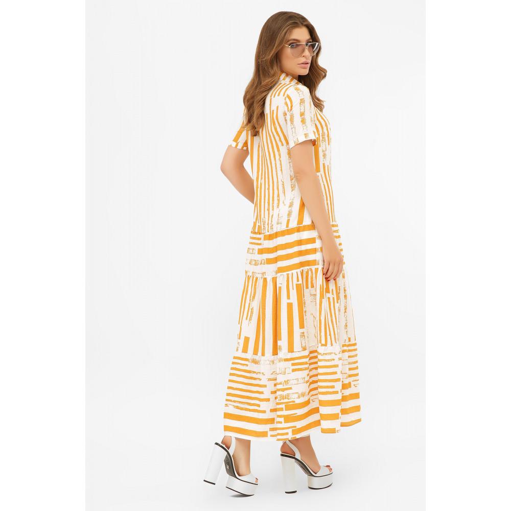 Актуальное платье-рубашка с принтом Дженни фото 4