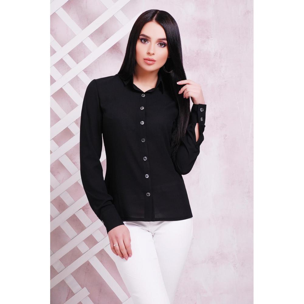 Классическая черная рубашка фото 1