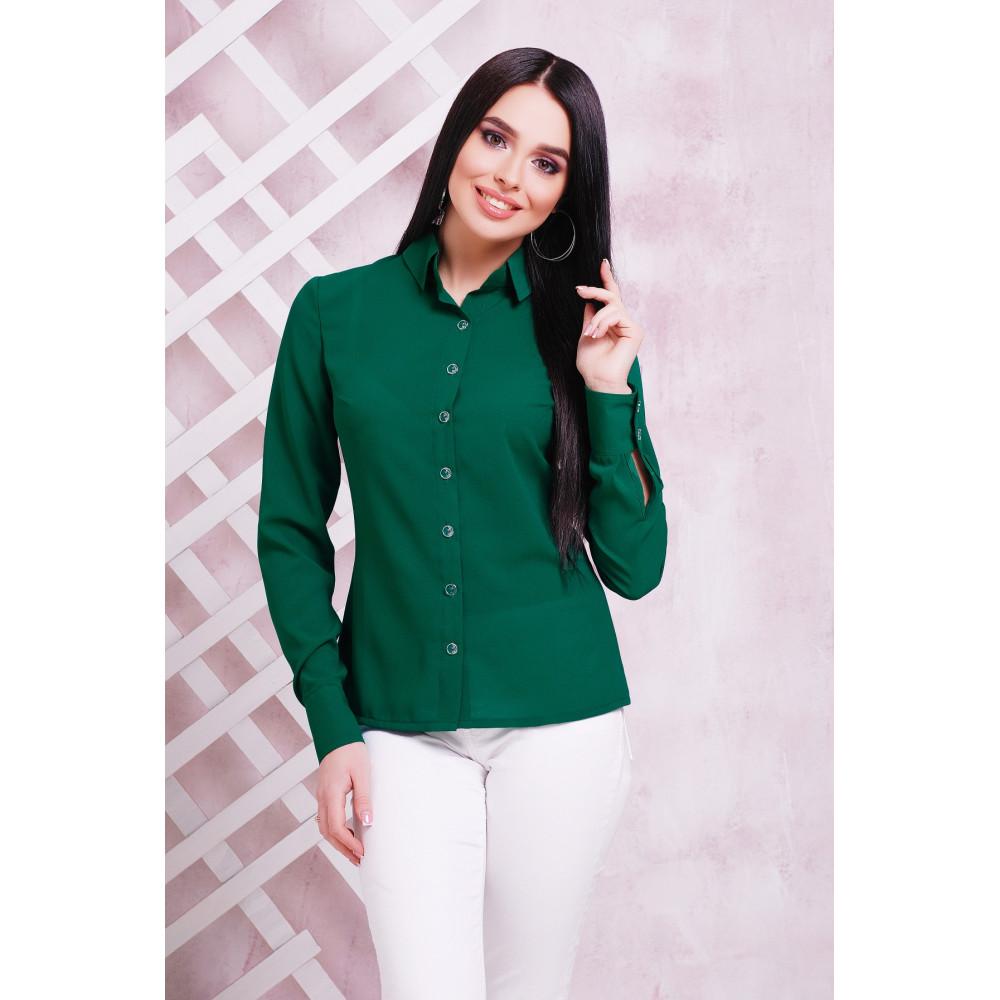 Зеленая женская рубашка фото 1