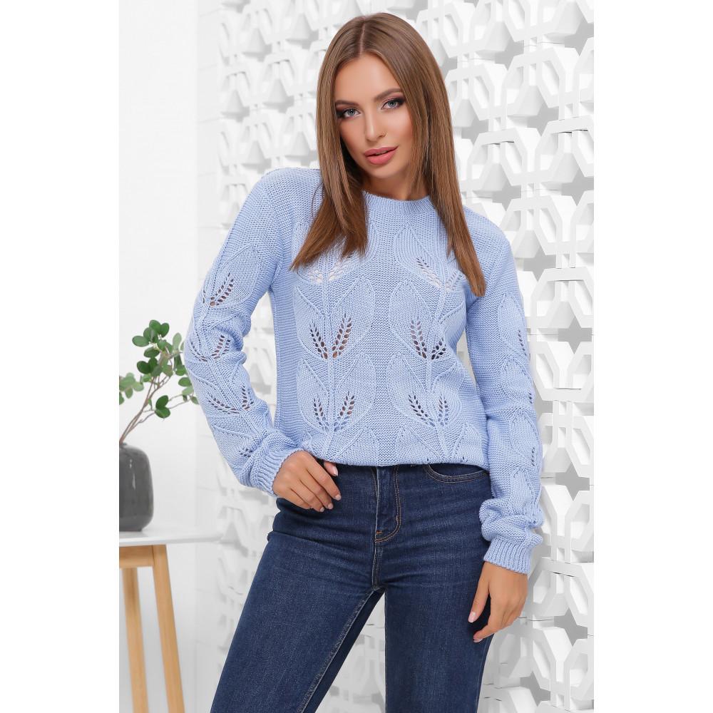 Голубой красивый свитер Джоанна фото 2