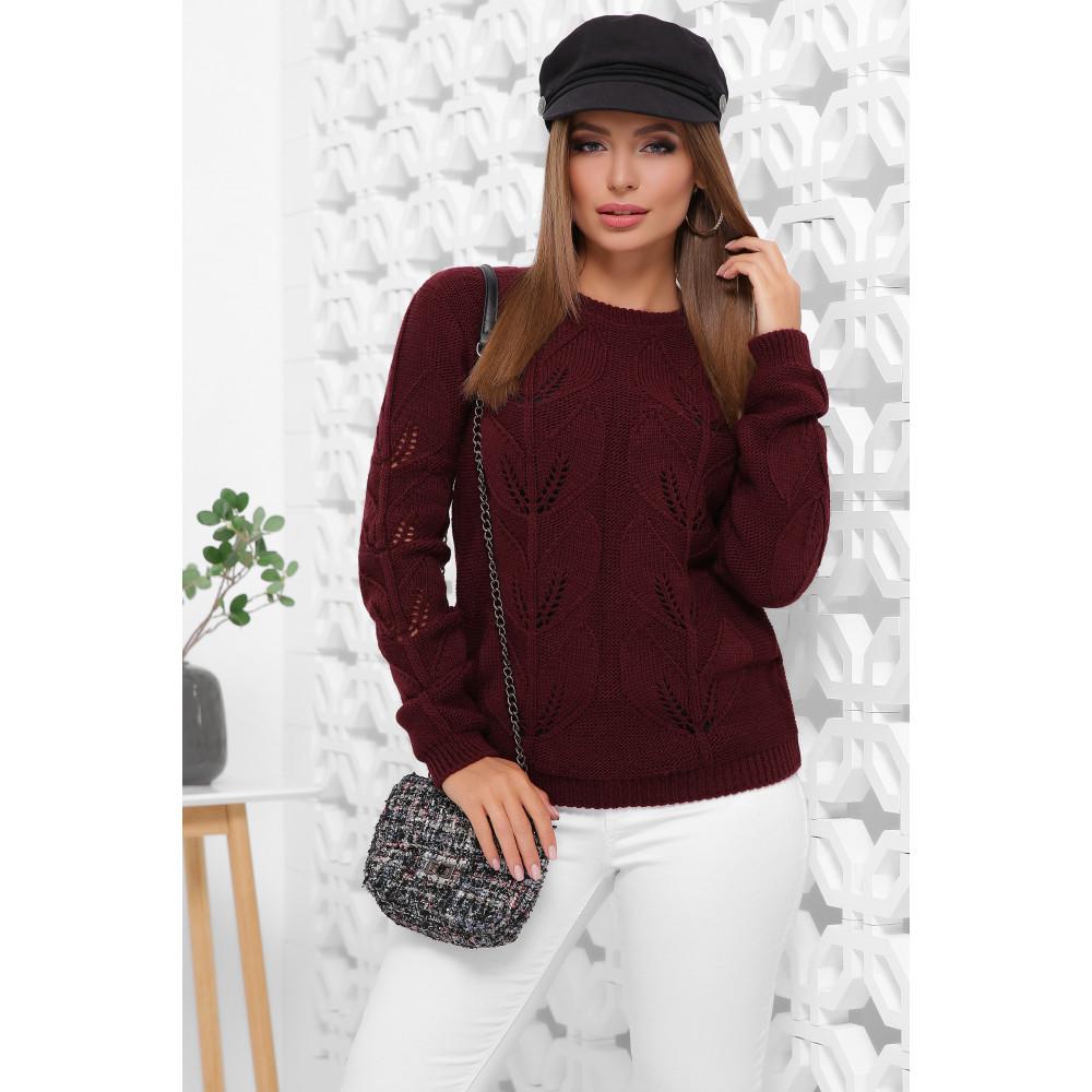 Бордовый свитер Джоанна фото 1
