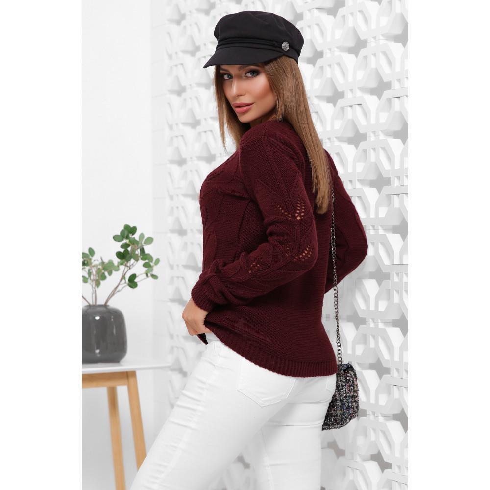 Бордовый свитер Джоанна фото 2