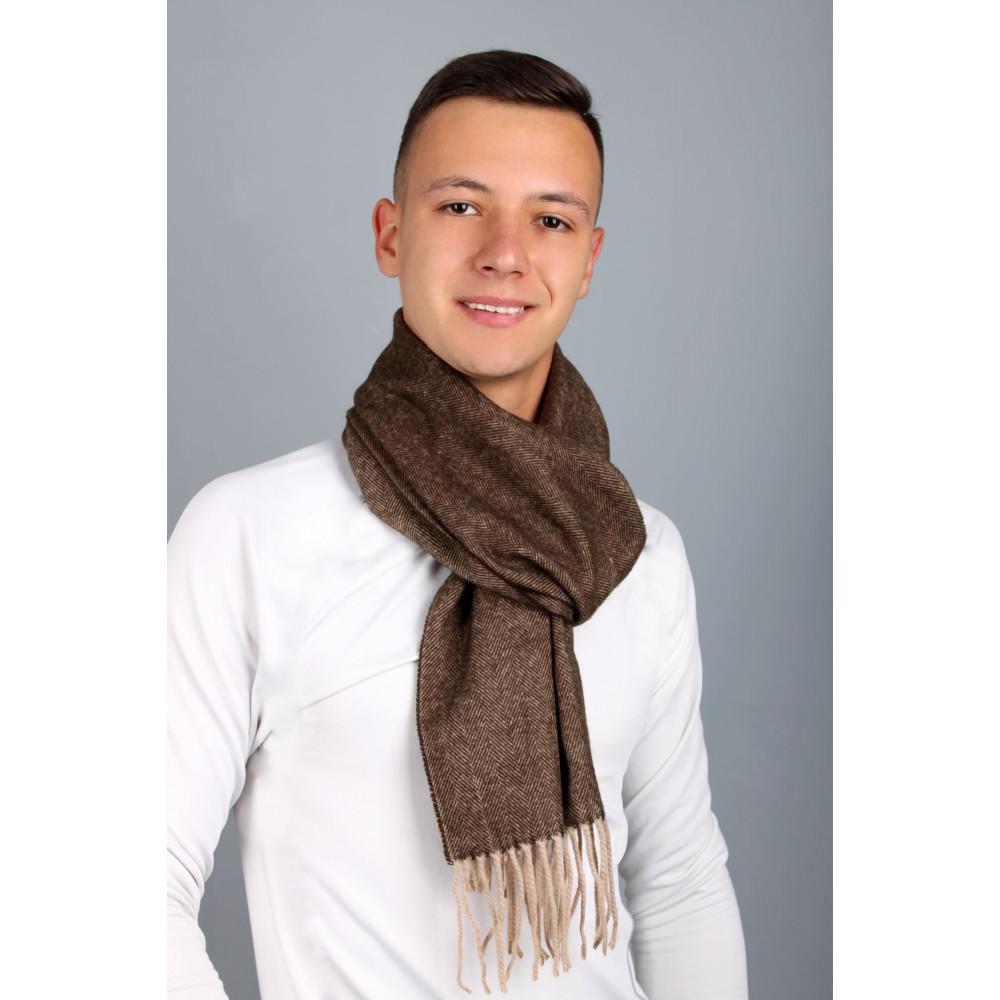 Коричневый мужской шарф Саймон фото 1