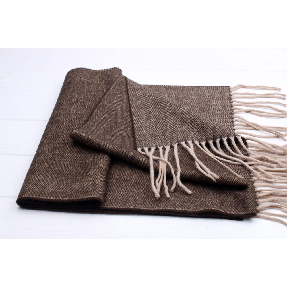 Коричневый мужской шарф Саймон фото 2