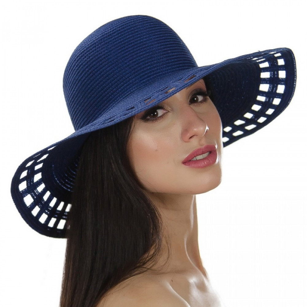 Літній синій капелюх Аміта фото 1