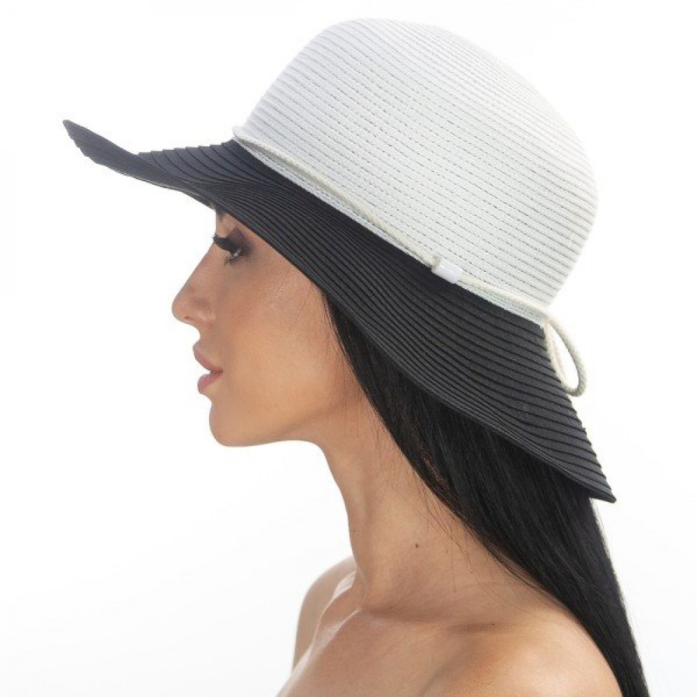 Двухцветная широкополая шляпа Каледония фото 1