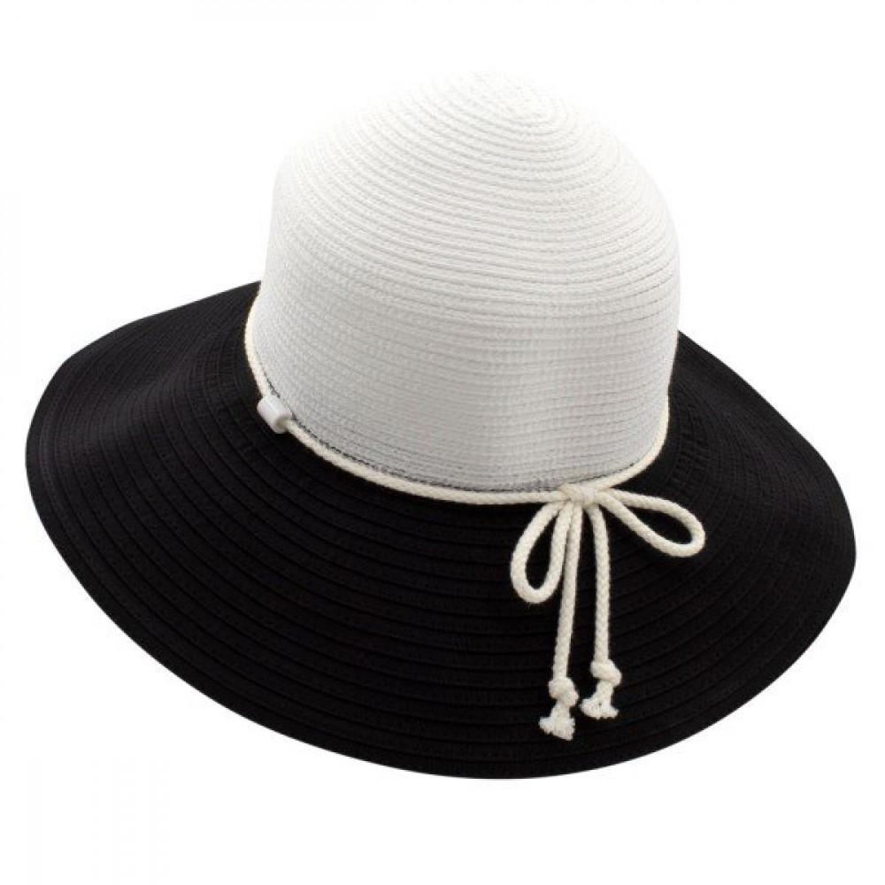 Двухцветная широкополая шляпа Каледония фото 2