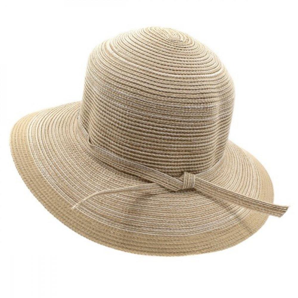 Бежевая летняя шляпа Телса фото 2