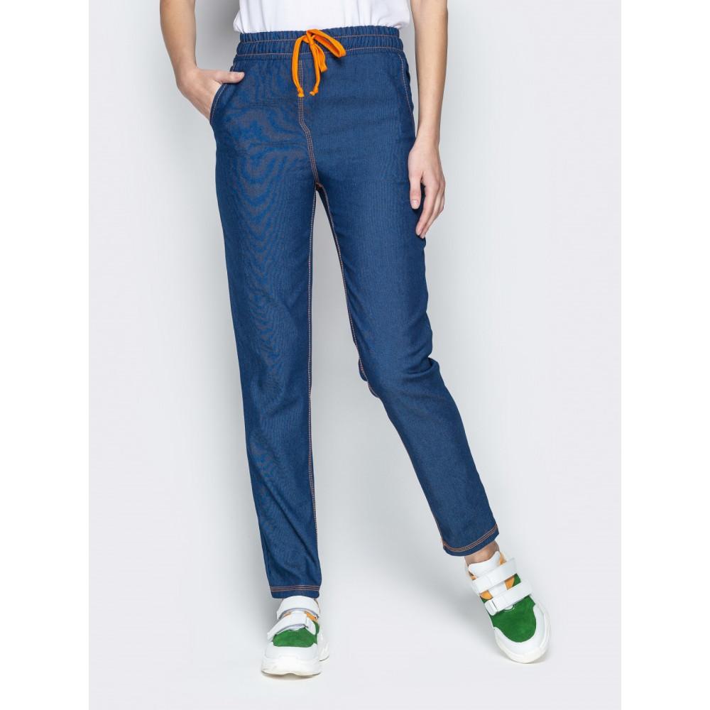 Джинсовые брюки с высокой посадкой фото 1