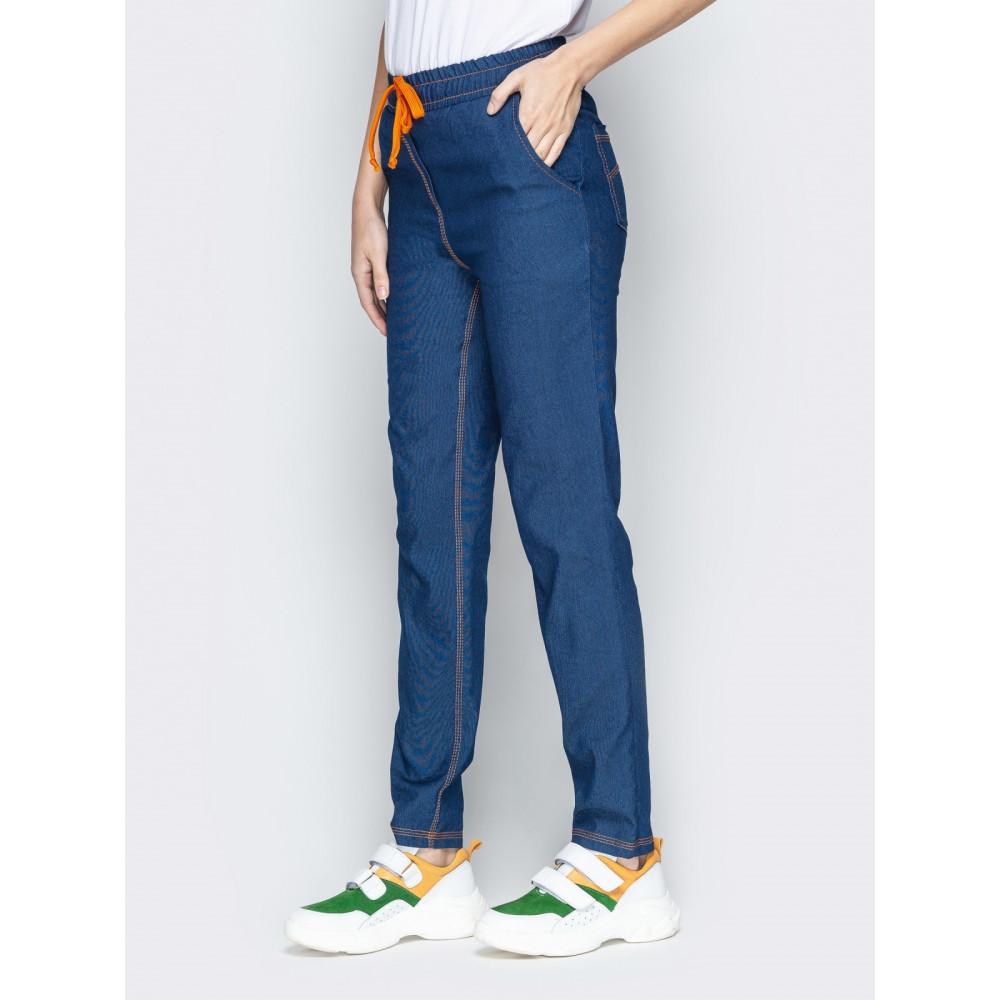 Джинсовые брюки с высокой посадкой фото 2
